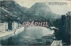 Old Postcard Grenoble Quays Noodle Head and St Eynard