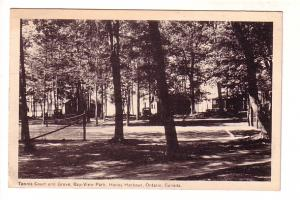 Tennis Court and Grove, Bay-View Park, Honey Harbour, Georgian Bay, Ontario, ...