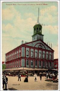 Faneuil Hall, The Cradle of Liberty, Boston MA
