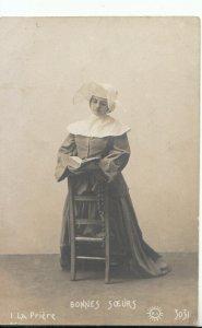 Religion Postcard - La Priere - Bonnes Soeurs - Ref 16895A