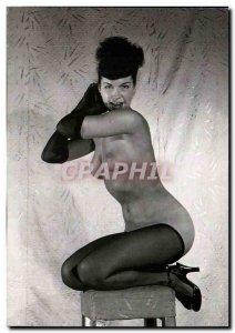 Postcard Modern Erotic Nude Woman Bunny Yeager 1955 1957