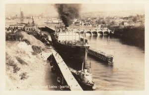 RP; SEATTLE ,  Washington , 1930-40s ; Canal Locks