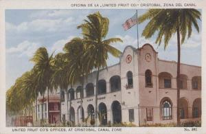 United Fruit Company Cristobal Zona Del Canal Panama Antique Postcard