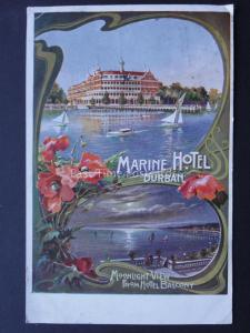 South Africa DURBAN Marine Hotel ADVERTISEMENT - Old Postcard