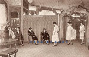 1935 Paris France PC: 'Au Printemps' Interior With Dress Models & Customers