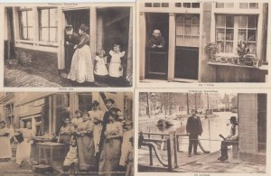 STREETLIFE Vie de rue AMSTERDAM NETHERLANDS Pays-Bas VOLKSLEVEN 15 CPA pre-1940