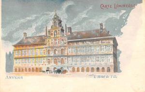 Carte Lumineuse, Anvers L Hotel de Ville Unused