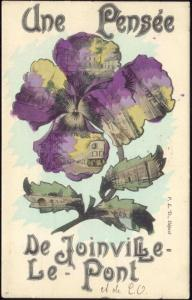 france, JOINVILLE-LE-PONT, Multiview, Pansy (1907)