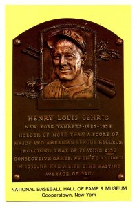 NY - Cooperstown. National Baseball Hall of Fame, Lou Gehrig