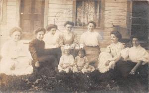C55/ Napoleon Ohio Postcard Real Photo RPPC 1908 Family Home Porch