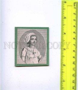222478 RUSSIA girl old card gluing on cardboard