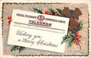 Telegram, Merry Christmas Telephone / Communication 1911