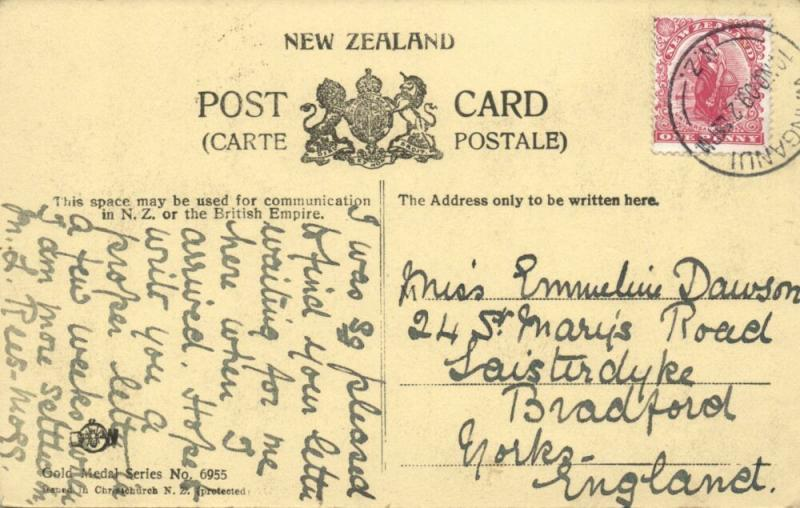 new zealand, Native MAORI Warrior (1909) Stamp