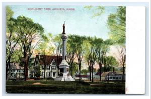 Postcard Monument Park, Augusta, Maine ME G3