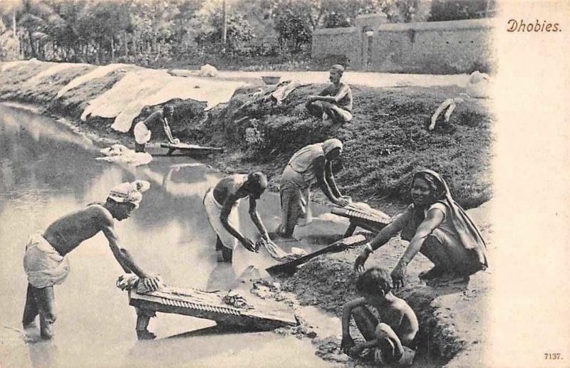 India Native Dhobies, Laundry Men, Washmen