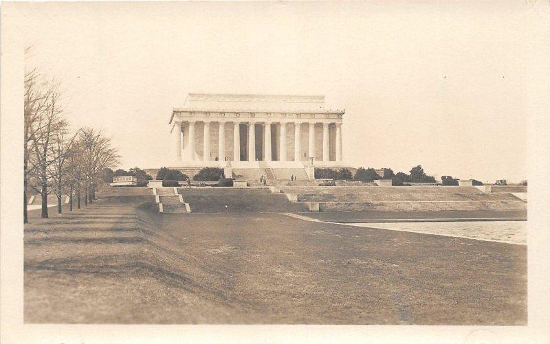 H78/ Washington D.C. RPPC Postcard c1930s Lincoln Memorial Building 171