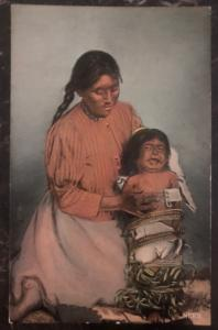 Mint USA PPC Picture Postcard Native American Indian Papoose Need