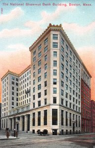 National Shawmut Bank Building, Boston, Massachusetts, Early Postcard, Unused