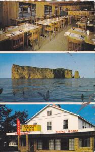 Biard's Restaurant, Inside View, Perce Rock, PERCE, Quebec, Canada, 40-60's