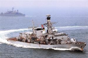 Postcard Devonport Based HMS Sutherland Type 23 Frigate RN Royal Navy L27