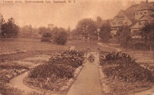 Flower Beds, Monomonoc Inn, Caldwell, New Jersey, Early Postcard, Used in 1911