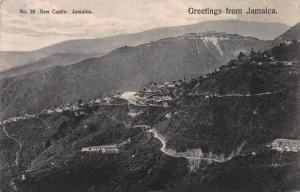 Greetings from Jamaica, New Castle, Jamaica, Early Postcard, Used in 1911