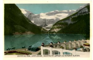Canada - Alberta, Lake Louise, Mt. Lefroy, Victoria Glacier.  *RPPC