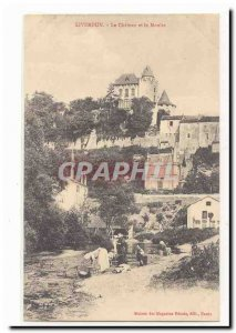 Liverdun Old Postcard The castle and the mill (LAVANDIERES)