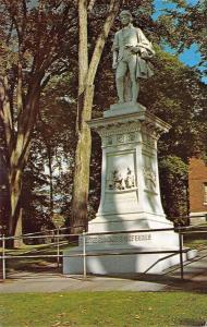 Barre Vermont~Statue of Robert Burns~Famous Poet~1950s Postcard