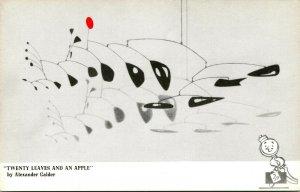 Vtg Postcard Artist Alexander Calder Twenty Leaves and An Apple Terrace Hotel