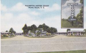 MYRTLE BEACH, South Carolina, 1930-1940s; Palmetto Motor Court