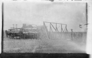 Haying Season~Farmer Dick & Boys Starting the Rack 16x16 Ft~1910 Real Photo~RPPC