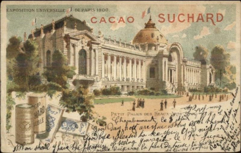 1900 Paris Expo Universelle Petit Palais des Beaux - Chocolat Suchard USED PC