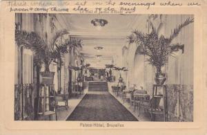 Interior, Palace- Hotel, Bruxelles, Belgium, PU-1913