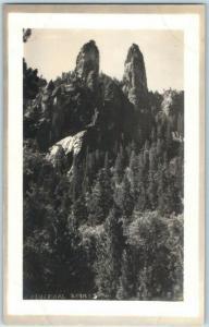 Yosemite National Park RPPC Postcard Cathedral Spires Pillsbury Photo c1910s