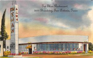 F14/ San Antonio Texas Postcard Tai Shan Restaurant Roadside