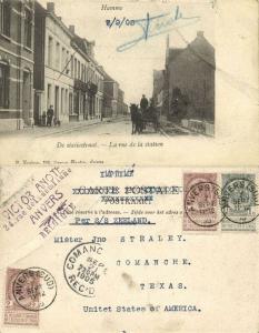 belgium, HAMME, De Statiestraat, La Rue de la Station, Horse Cart (1905) Stamp