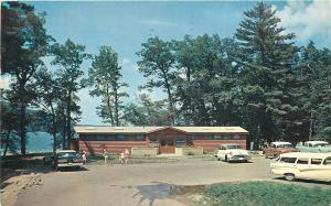Baraboo Wisconsin~Devils Lake State Park~South Shore Bath House~Nice 1950s Cars