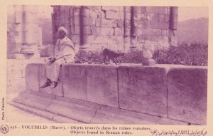 VOLUBILIS, Morocco, Africa, 1900-1910's; Objects Found In Roman Ruins