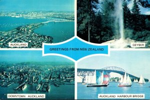 New Zealand Greetings Showing Scenes In Auckland