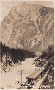 Mt. Field, Kicking Horse Canyon Canadian Pacific Railway Train Postcard