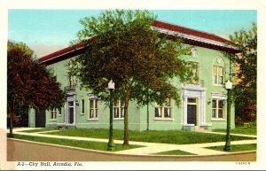 Florida Arcadia City Hall Curteich