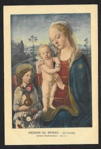 Madonna & Child Verrocchio Unused c1920s