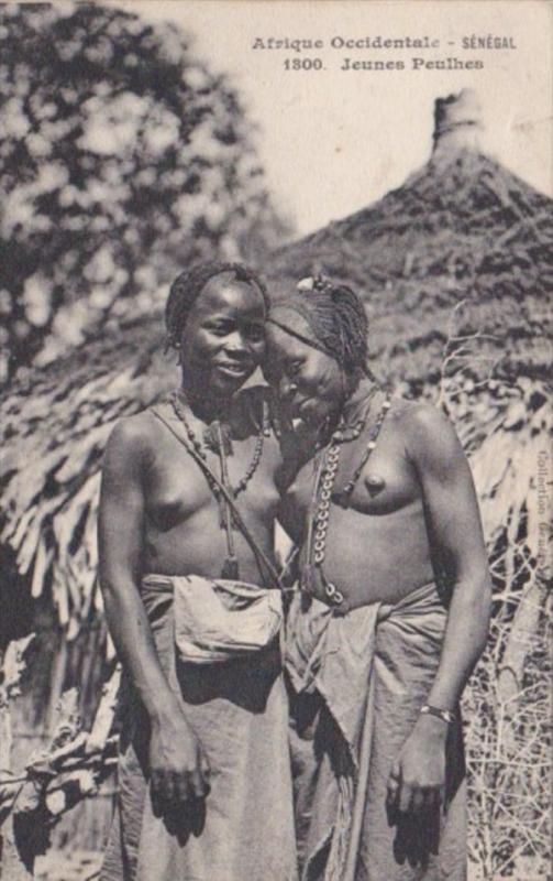 Senegal Jeunes Peulhes Young Native Girls Nude Topless