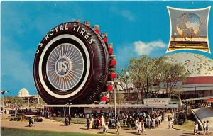 US Rubber Royal Tires New York World's Fair postcard