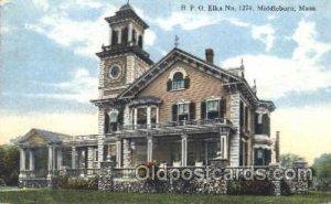 Middleboro, Mass, USA Fraternal Elks Club (B.P.O.E.) 1925 light corner wear, ...