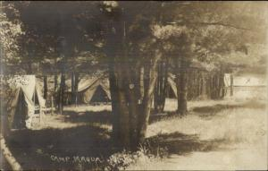 Poland ME Camp Maqua c1920 Real Photo Postcard #2
