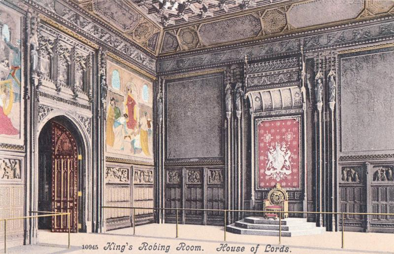 KING`S ROBIN ROOM HOUSE OF LORDS VTG POSTCARD