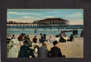 ME Amusement Park Beach Bathers Casino Pier Old Orchard Beach Maine Postcard