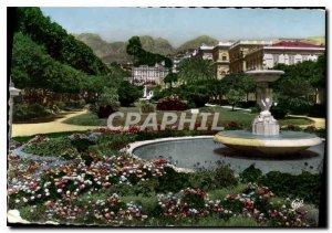 Postcard Moderne Menton The public garden